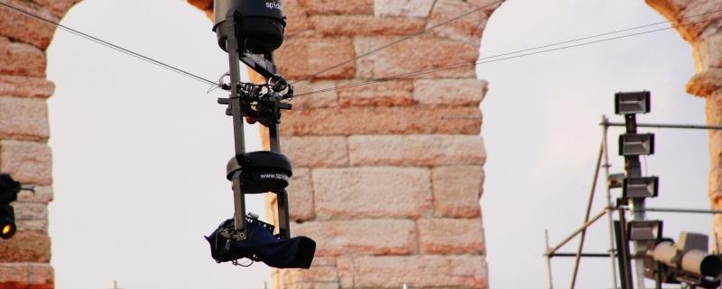 spidercam® installed at the great venue Arena di Verona
