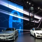 spidercam® infront of the new Mercedes Benz models